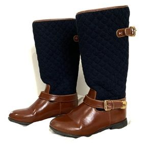 Tommy Hilfiger 'Andrea' Quilted Riding Boot.kids